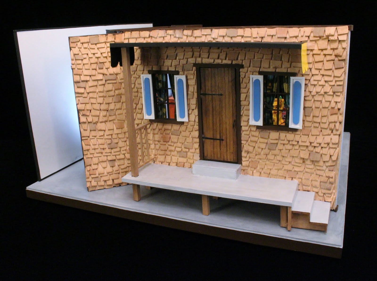 Lance Cardinal Creations Mister Rogers Neighborhood Television House Miniature