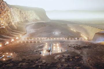 """Как будет выглядеть первая человеческая колония на Марсе: фото и видео """"проекта 2054"""""""