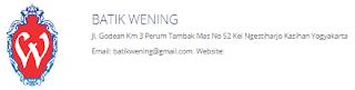 Batik Wening Membuka Lowongan Kerja untuk SDM Penjahit 10 Orang