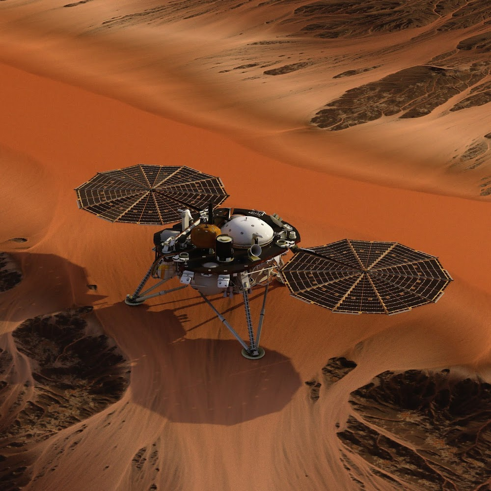 NASA's InSight lander on Mars by Charlie Burgess