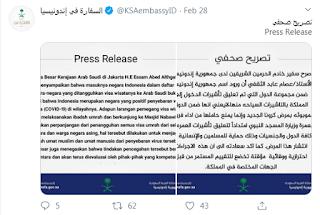 dubes arab saudi perihal corona indonesia