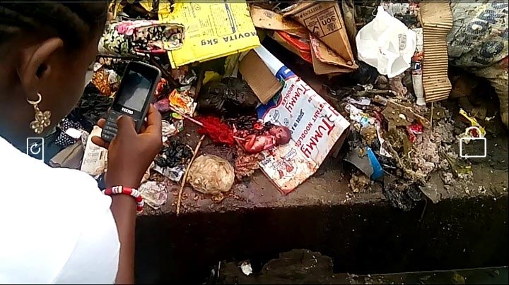 Graphic: Lifeless baby dumped in refuse site in Calabar