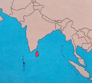 Gambar Peta letak negara Sri Lanka