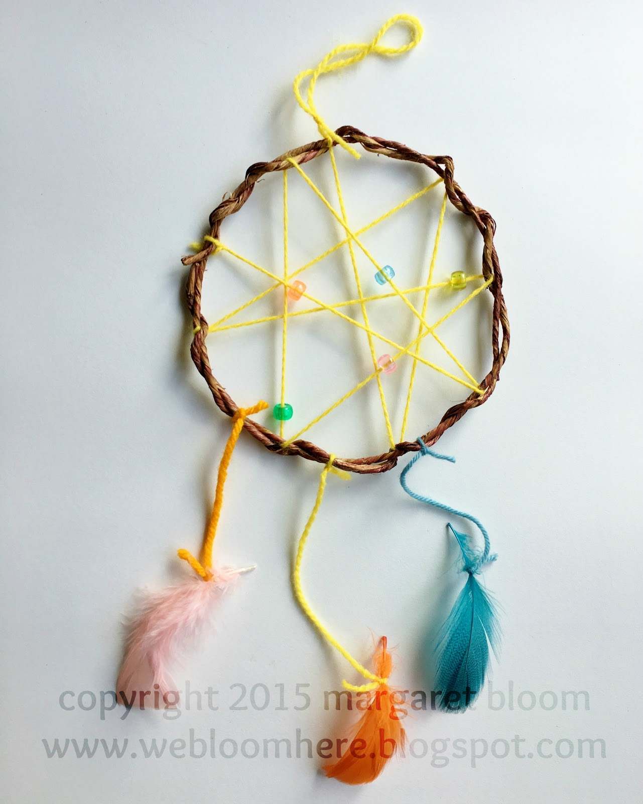 We bloom here tutorial dream catcher for How to tie a dreamcatcher web
