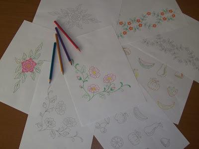 New embroidery designs - Nuovi disegni per ricami