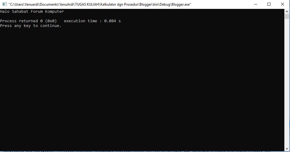 perintah input output C++