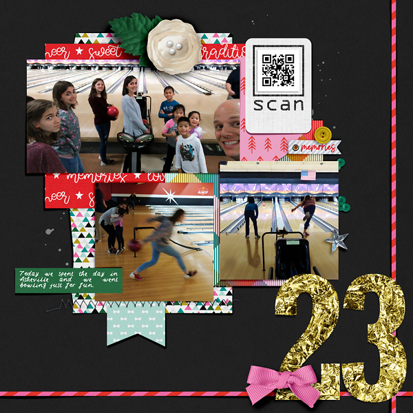Digital Scrapbook page Document Your December day 23