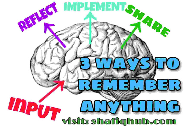 Photo of brain showing three ways to remember anything faster