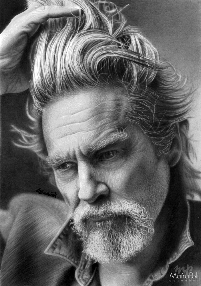 11-Jeff-Bridges-Maíra-Poli-Mahbopoli-Black-and-White-Realistic-Pencil-Celebrity-Portraits-Drawings-www-designstack-co