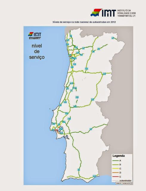 mapa portugal estradas 2012 Mapas: A rede rodoviária portuguesa em mapas mapa portugal estradas 2012