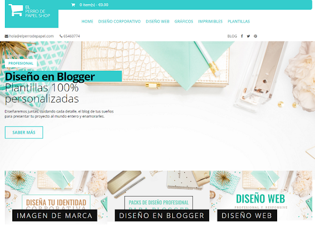 Plantilla Profesional y Responsive para hacer tiendas en Blogger