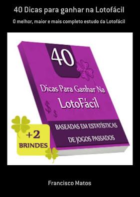 Livro 40 dicas para Lotofácil