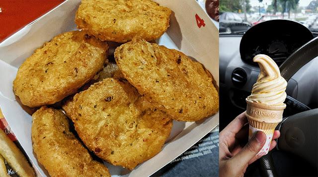 Cuba Menu McDonalds Spicy McNuggets Dan Aiskrim Cheescake