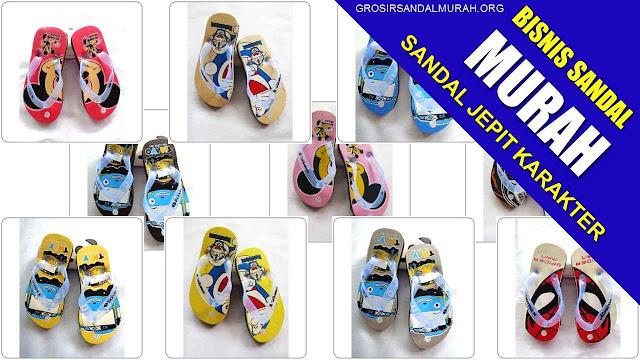 grosir sandal jepit karakter
