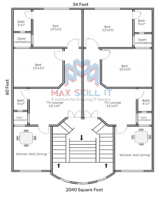 2 unit house design plan | low cost house design