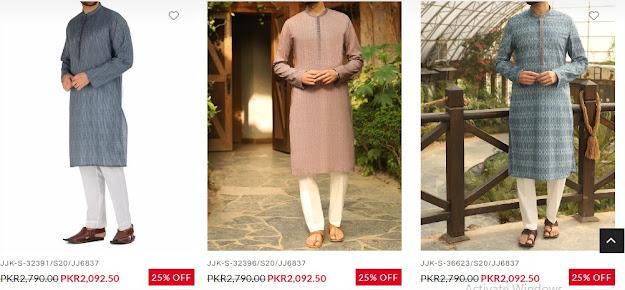 J. Junaid jamshed Men kurta collection