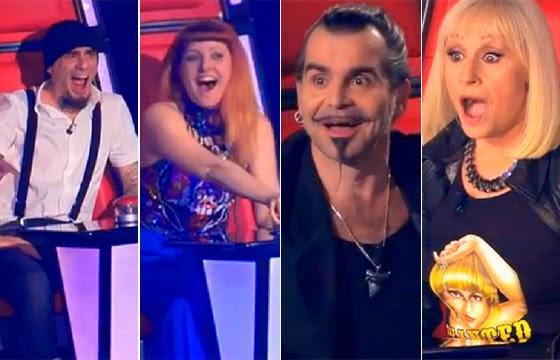 cara de surpresa dos jurados do concurso de talentos