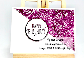 One Sheet Wonder using Hand Stamped DSP with Stampin' Up!® Abstract Impressions