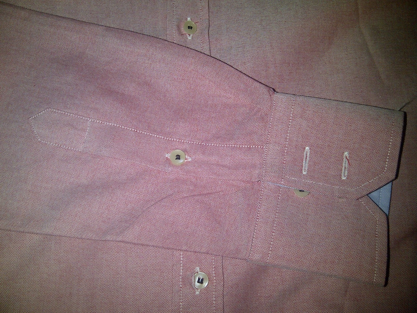 Tailor4less custom made shirt- seam & stitiches