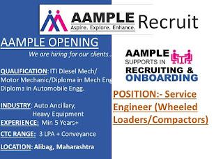 ITI And Diploma Job Vacancy In Heavy Equipment Industry For Maharashtra Location.