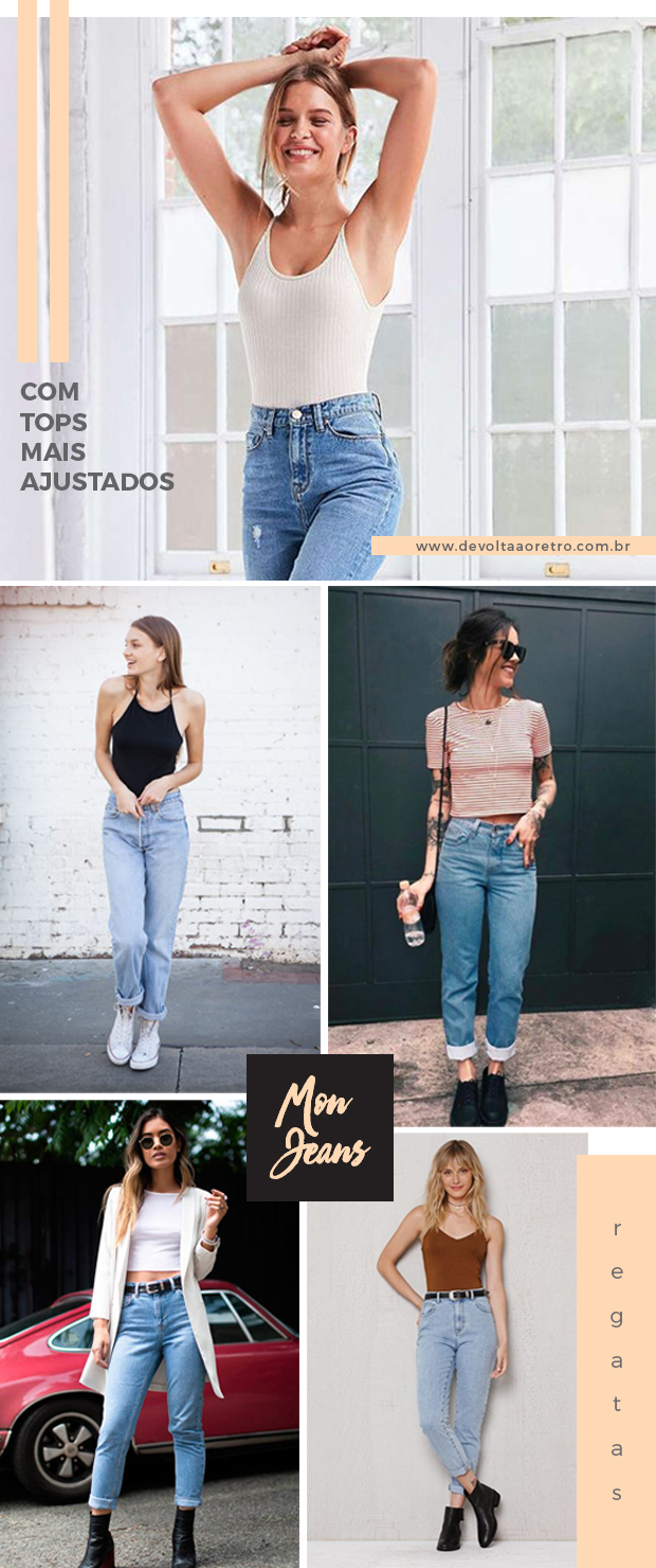Como usar mom jeans com top cropped