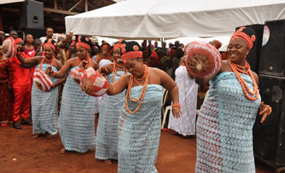 Benin cultural display during the coronation
