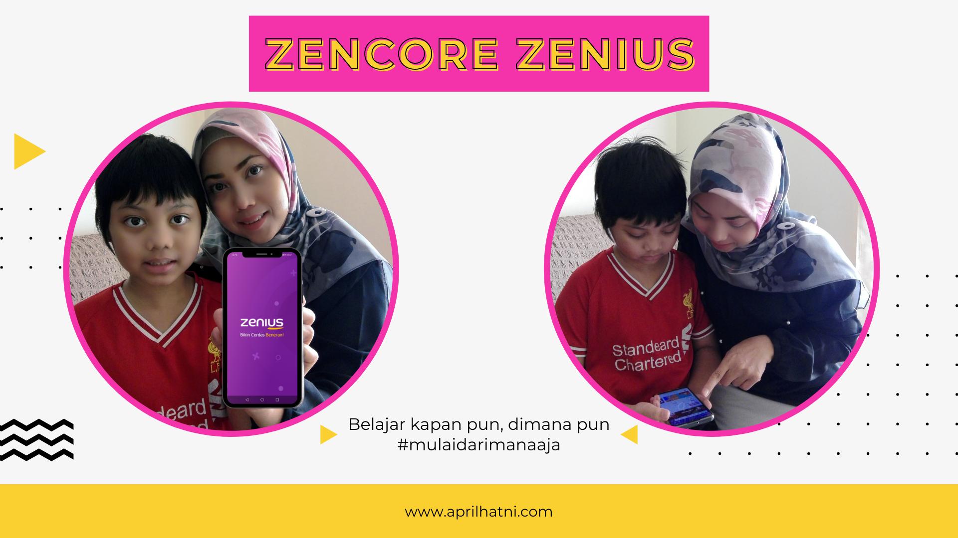 daya ingat makin kuat karena latihan di fitur zencore yang tersedia di aplikasi zenius