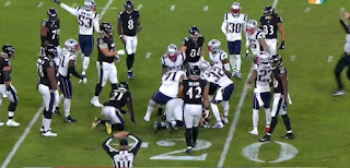 NFL match, Patriots vs ravens