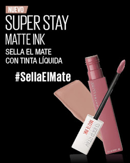 Prueba el labial super Stay Matte Ink de Maybelline
