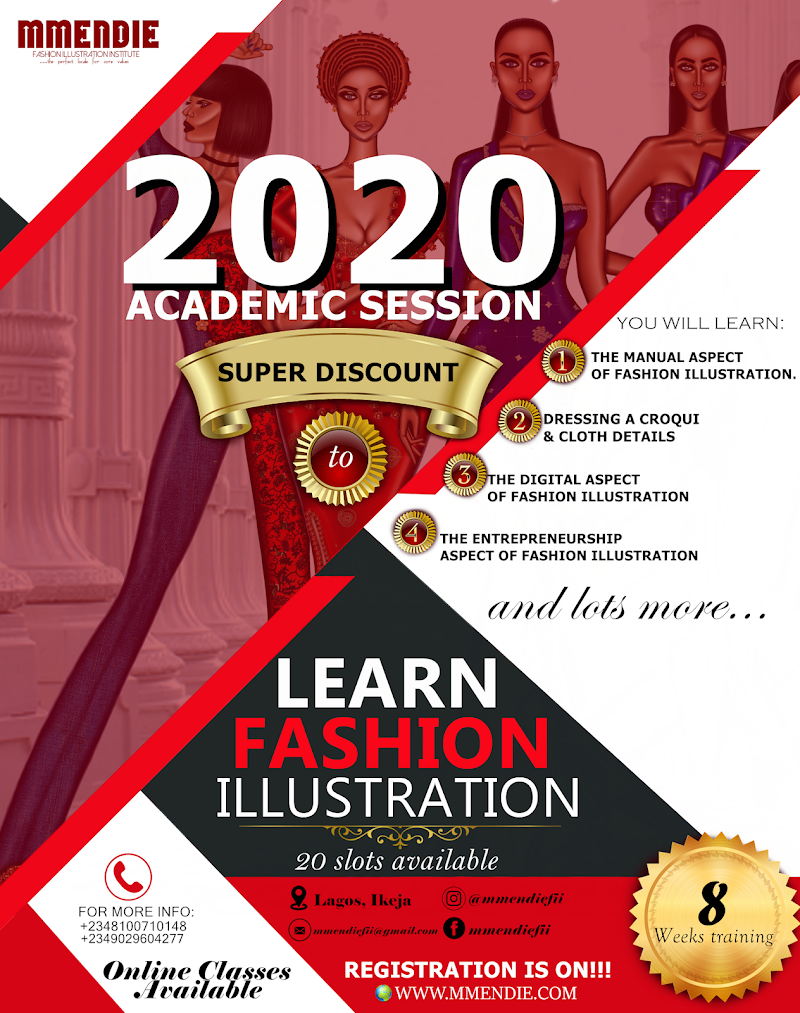 "2020 ACADEMIC SESSION -""SUPER DISCOUNT"" ON OUR FEES TO LEARN FASHION ILLUSTRATION"