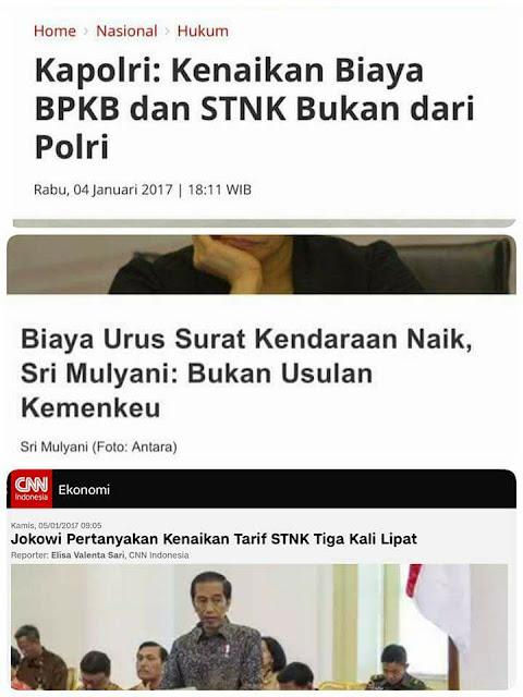 Siapa Sebenarnya Dalang Yang Menaikkan Tarif STNK dan BPKB?