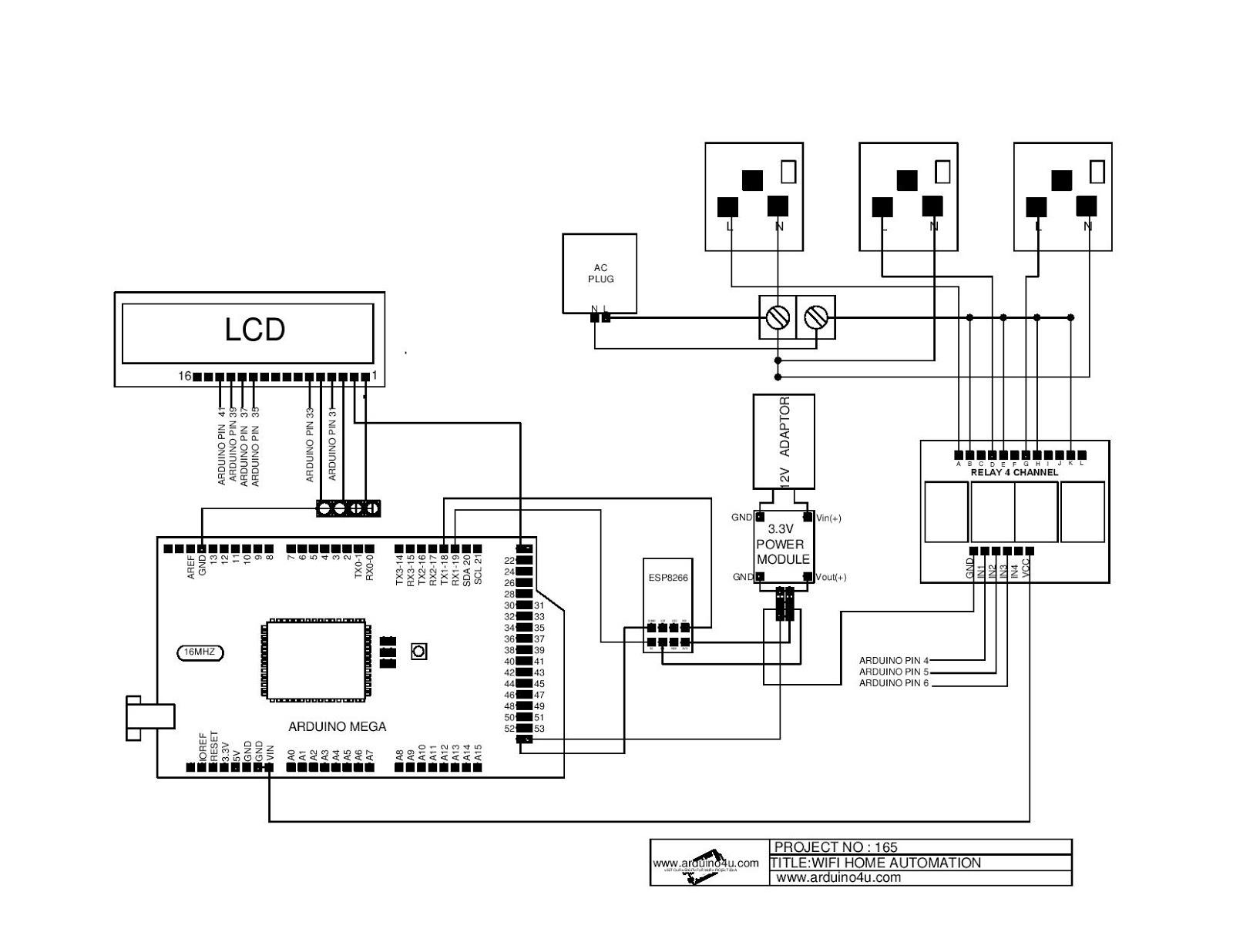 Projek Elektronik Arduino4u 165 Wifi Home Automation