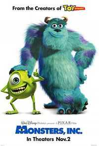 Monsters, Inc. (2001) Hindi Dual Audio Download 300mb BluRay 480p