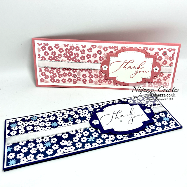 Paper Blooms Slim Thank You Card