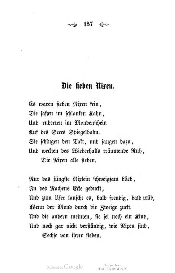 Epoesie Otto Roquette Die Sieben Nixen