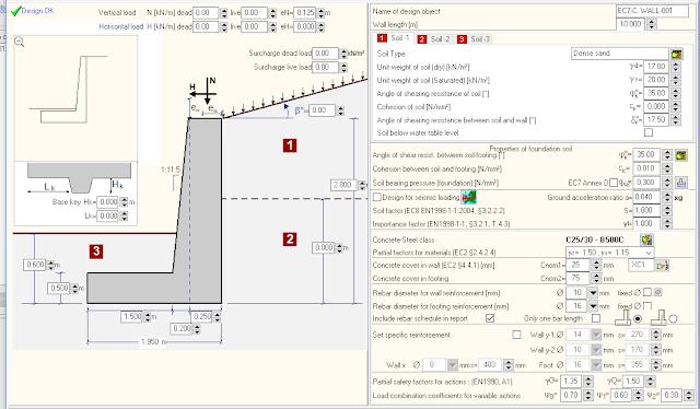 Software Analisa Dinding Penahan Tanah Beton Bertulang