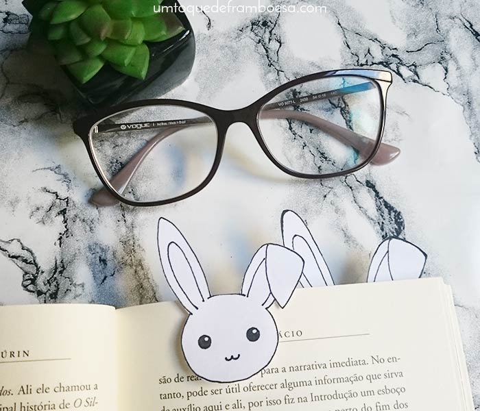Como fazer lindos marcadores de página de coelhinho