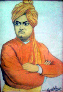 swami vivekananda water colour by nimisha k