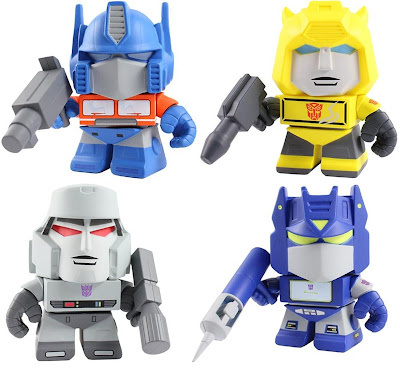 Transformers Mini Figure Series 1 by The Loyal Subjects - Optimus Prime, Bumblebee, Megatron & Soundwave