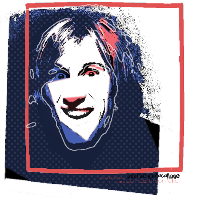 Gérard Depardieu, biographie de Gérard Depardieu, portrait style pop art, FLE, Le FLE en un 'clic'