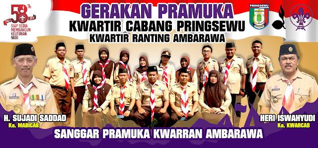 Desain Banner HUT Pramuka Ke-58 Kwartir Ranting Ambarawa