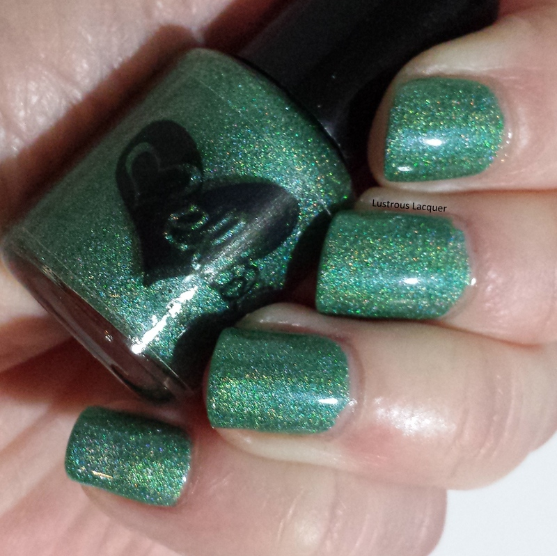 Teal-green-holographic-nail-polish