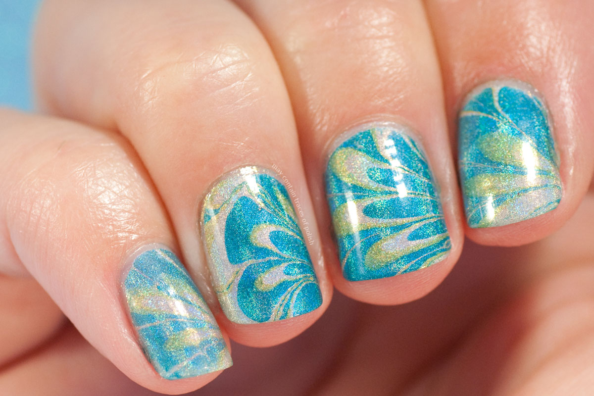 China Glaze OMG Water Marble Nails Art