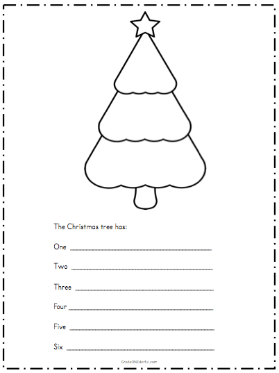 3 Simple and easy Christmas writing templates for first grade.