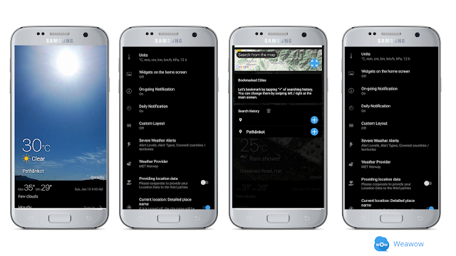 Weawow, best weather app for Android