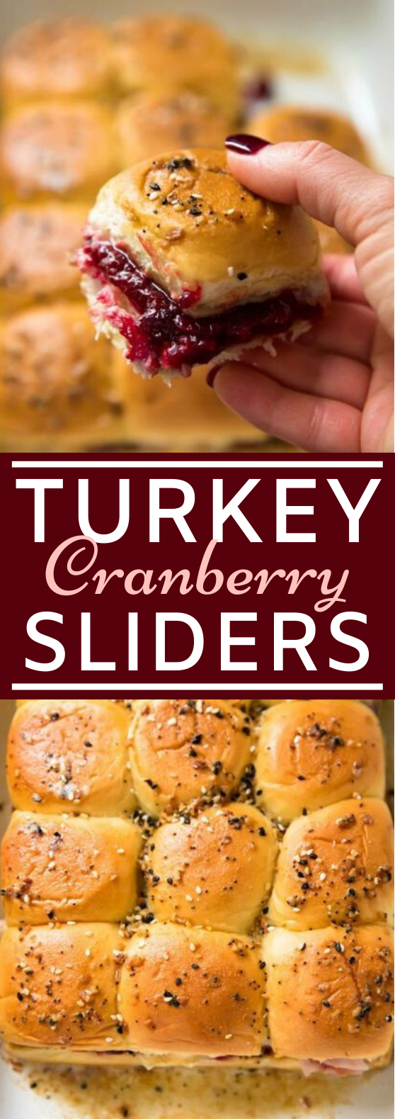 Turkey Cranberry Sliders #dinner #recipes #party #food #appetizers