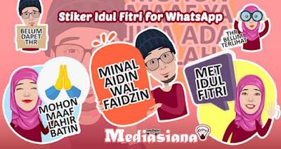 Stiker Idul Fitri 2020 untuk WhatsApp