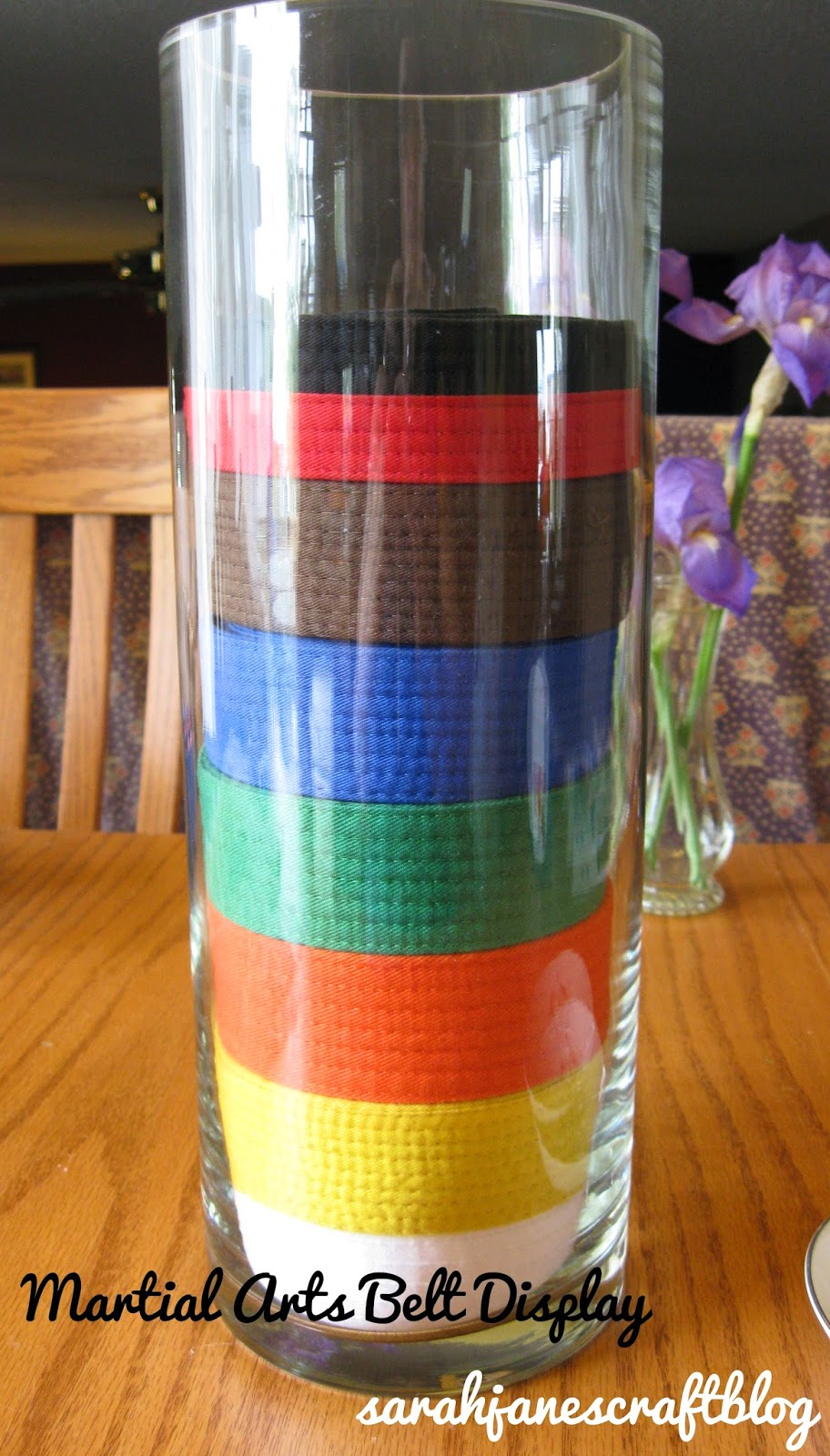 Martial Arts Belt Display Vase