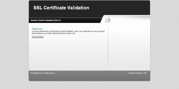 Verifikasi SSL Domain NameCheap Berhasil
