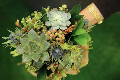 Succulents wedding theme ideas bouquets